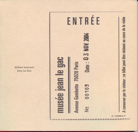 Dans le vingtième arrondissement le Musée Jean Le Gac